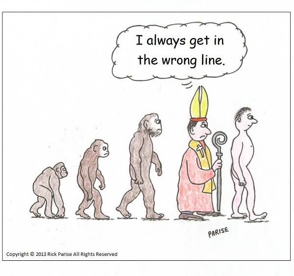 comic about the pope and evolution