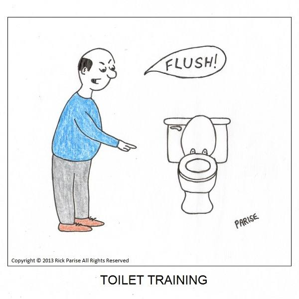 comic about learn how to flush