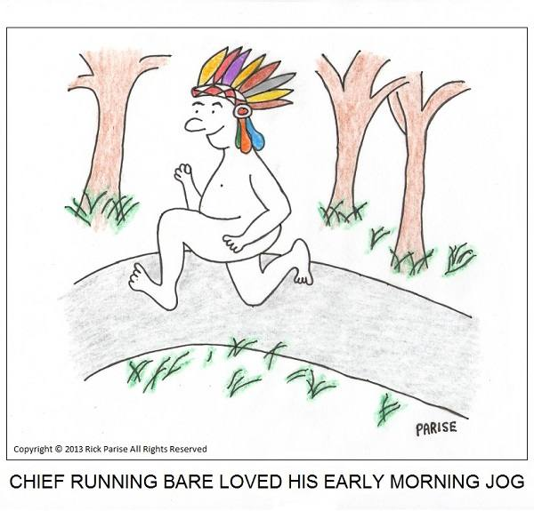comic about the chief loves jogging