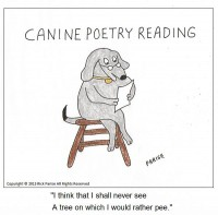 comic about canine poetry reading