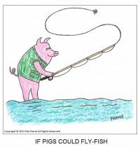 comic about pigs can fly-fish