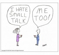 comic about the art of small talk