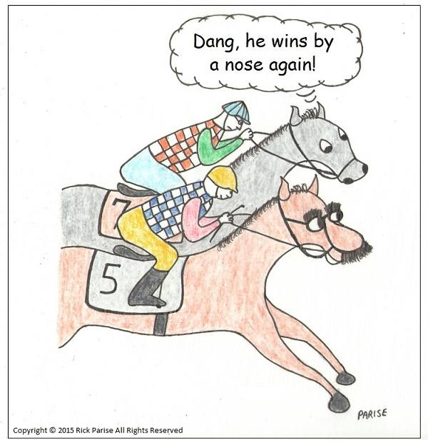 comic about horse race funny finish