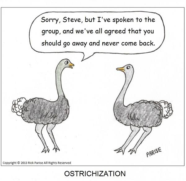 comic about ostrich cruelty