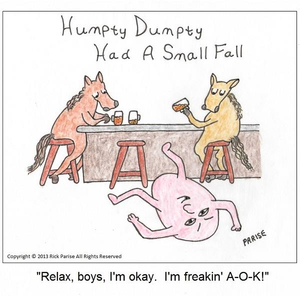 comic about the fall of Humpty Dumpty