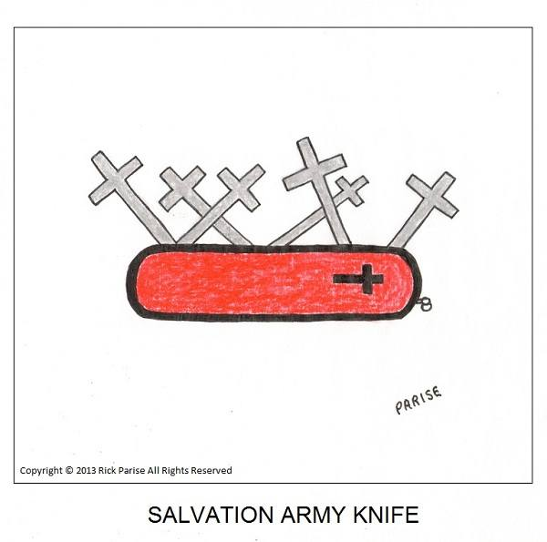 comic about Salvation Army knife