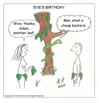 Comic about Adam's Gift on Eve's Birthday