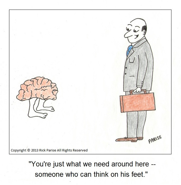 comic about brain in the office
