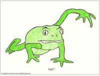 comic about a frog
